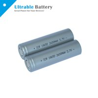 Wholesale High Quality Flat top Battery mAh V Max Pulse A Discharge Li Ion Rechargeable Battery for Flashlight