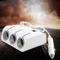 Wholesale Car Way Multi Socket Cigarette Lighter Splitter USB Plug Adapter Charger Black