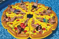 air boat parts - Giant Inflatable Pizza Float Toy Summer Entertainment Water Sport m P PVC Ride On Pool Floating Gift Pizza Air Mattress