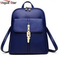 Wholesale Vogue Star backpacks women backpack school bags students backpack ladies women s travel bags leather package YA80