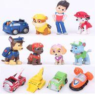 Wholesale 12 cm Pawed Figure Patrolling Puppy Car Toy Mini Figure Dog Model doll Kids Children Gift