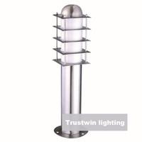 Wholesale 110V V V V landscape lawn sward garden stainless steel waterproof outdoor bollard pillar post light lamp