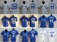 Wholesale 2016 New Womens Toronto Blue Jays Josh Donaldson Jose Bautista Kevin Pillar Troy Tulowitzki Baseball Jerseys Free Drop Shipping