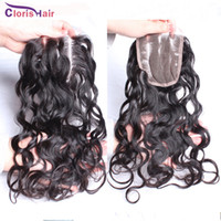 affordable lace closures - Affordable Natural Wave Brizilian Lace Closure Unprocessed Brazilian Human Hair Silk Top Lace Closures Piece Bleached Knots For Weaves