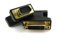 Wholesale VGA Male Pin to DVI D Pin Female F M Digital Video Adapter Converter Brand New