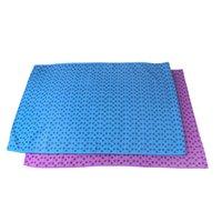Wholesale REAMIC Yoga mat towel non slip massage fitness blanket multifunctional green environmental protection Yoga towel blue and purple