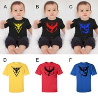 Wholesale Pokemon T Shirt For Baby Boys Clothing Summer Short Sleeve Cartoon Print Cotton Tee Top Kids Children Clothes Costume Style