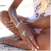 arm open - Hot Bohemian snake bangles for women New Vintage silver Plated Open Circle Snake Arm Bangle Bracelet for Women Girls Ethnic Jewelry