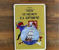 adventure movie posters - The Adventures of Tintin Creative tin posters cm decorative sheet metal painting decorative crafts and gifts