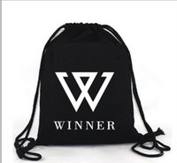 Wholesale 10pcs canvas bag backpack winner bts beast exo infinite shinee vixx got7