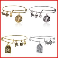 ancient trees - 2016 Alex and Ani bracelet ancient silver gold tree of life charm bracelets bangel cuff for women lovers DIY fashion jewelry