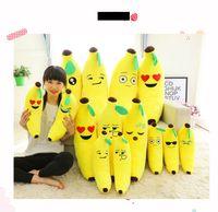 achat en gros de peluche banane-60cm (24inch) Banana Coussin EMS haute qualité Coussin Emoji Smiley Oreiller Cartoon Jaune Emoji Oreiller Banane Doll Stuffed Plush Pillow Toy E1