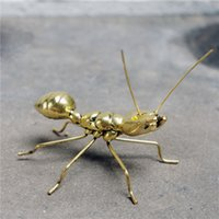 ants craft - Do the old plating resin model of the housing decoration Home Furnishing ant decoration crafts jewelry gold ornaments accessories ant