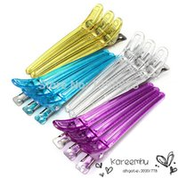app hair - 12Pcs Pack Pro Salon Hair Hairdressing Clips Plastic Alloy Colorful Clamps app cm