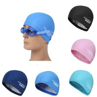 Wholesale New High Quality PU Leather Ear Protection Swimming Cap Unisex Adult Men Women Waterproof Swimming Hat