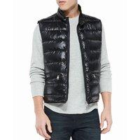 Wholesale famous brand Men s Vest Ultra Down coat Vest Outdoor Sleeveless Jacket winter men s casual vest fashion Brand Men s Down vest men vests