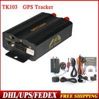 Precio de Pc shock del sistema-10pcs / lot DHL del envío del ccsme Nueva TK103 B con mando a distancia dual y sistema GPS basado en PCWeb Quad Band sensor del choque GPS103