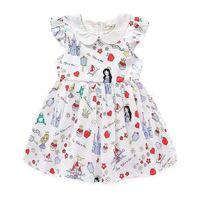 Cheap Baby Girls Cartoon Castle Dressess 2016 Kids Girl Fruit Apple Print Party Dress Girl Princess TUTU Dress Children Clothing SDB1087