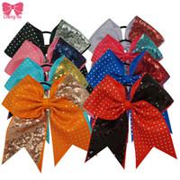 Wholesale Fashion Rhinestone Sequin Cheer Hair Bow Rubber Band Casual Hair Ring For Women Girls Headwear Hair Accessories