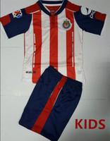 Wholesale Mixed DHL buy Mexico Chivas Guadalajara Kids Jerseys child teens Shirts Chivas O BRAVO REYNA DE NIGRIS ARCE Jersey