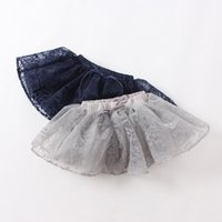 Wholesale Hug Me Girls Tutu Skirts Kids Pettiskirts Autumn Korean Fashion Bow Lace Flowers Princess Bling Skirts Kids Clothing ER