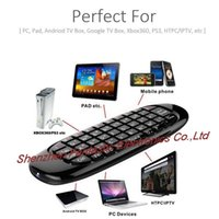 Wholesale C120 Mini Wireless G RF Android TV Box Mini PC Airmouse Remote Control Flymouse Mini Keyboard USB Double Side QWERTY Keyboard