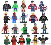 Wholesale Super Heroes Toys Building Blocks Sets Figures The Avengers Classic Toys DIY Bricks Minifigures For Children