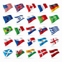 Wholesale 2016 Euro Cup cm Polyester National Flag America United Kingdom France Countries Olympic National Flag ft Standard Size Banner