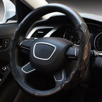 Wholesale KEEPING Luxury Style Monochrome PU Leather Auto Car Steering Wheel Cover An ti Slip cm