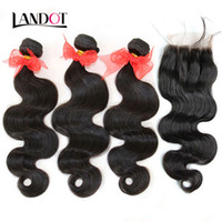 add inches - Brazilian Body Wave Virgin Hair Weave With Closure A Grade Bundles Unprocessed Brazilian Human Hair Weave Add Lace Closures Natural Color
