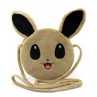 Wholesale New Mini Plush Coin Purse Cartoon Pikachu Eevee Crossbody Bag Messenger Wallet Card Holders Handbag For Kids Gift