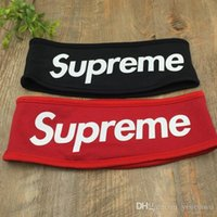 hat band - Fashion Brand USA logo FLEECE HEADBAND Sport Suprem sweatband Running headband Hair band sweatband Cycling Scarf Hats
