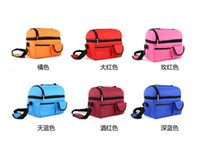 Wholesale bluk high quality canvas picnic bag Ice pack shoulder bags Double deck thermal insulation travel lunch bag Storage bag