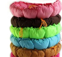 Wholesale EMS New Colors Softy Round Warm Comfortable Love Pad Pet Dog Cat L Size Sweet Pumpkin House jy790