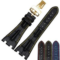 bands cowhides - mm Fit For Audemars Genuine Cowhide Leather Strap Band Folding Clasp For AP for Piguet