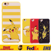 apple back packs - New Poke Pikachu TPU Cell Phone Cases For IPhone s S Plus Cartoon Pocket Monsers Back Cover Protective Dust Plug Opp Pack SZ C04