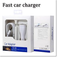 Wholesale Universal Single Micro USB Car Charger fast car charger adapte plug V A with m usb sync cable for with retail box