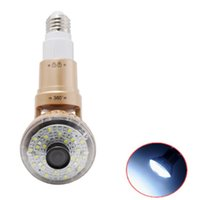 Wholesale Wireless Rotable Bulb IP Camera with LED Light and Remote Control Wide Angle
