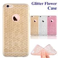 apples slices - For Iphone S Cases Glitter Flower Case Ultra thin Bling Bling Case Soft TPU Inner Gleamy Sliver Slice For Samsung S7 S7 Edge S SCA219