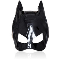 Wholesale Cat Leather Hood Open Eye Head Bondage Elastic Sex Mask Fetish Cosplay Batman Headgear Bondage Hood BDSM Sex Toys For Couples