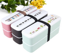 ECO Friendly bento style lunch box - New Japanese Style Candy Color Microwave Tableware Tier Lunch Box Bento Box for Sushi Food Container Hot BFCF dandys