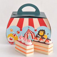 Wholesale Circus Troupe Carnival Decoration Paper Cupcake Box Macarons Chocolate Dessert Box Cake candy Box