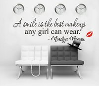 best graphics - Marilyn Monroe classic quotes series Best makeup english wall stickers word color black living room tv background wall sticker
