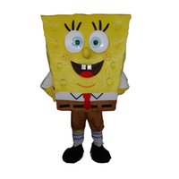adult spongebob costumes - Hot Customized Adult SizeYellow SpongeBob Mascot Character Cartoon Doll Costume Fancy Dress Party Brithday Xmas White Mascot Costume