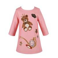 baby dress patterns - Princess Dress Autumn Baby Girl Dress Long Sleeve Bear Pattern Kids Dresses Girl Clothes Robe Fille Enfant