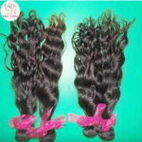 Wholesale Crochet Braids Water Wave Virgin Brazilian Human Hair bundles Full Sew in POP