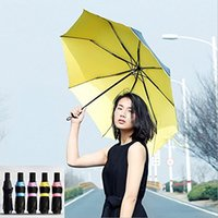 Wholesale 99 Anti UV UPF Parasol Three Folding Sun Rain Travel Umbrella with Ribs Durable and Strong Enough