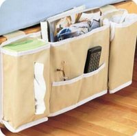bedside storage caddy - bedside caddy pocket bedside storage bag hang sundries magazines phone tissue holder organizer mattress book remote cad Print