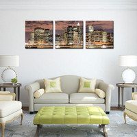 art addition - New York City Night Canvas Print Stretched Canvas No Frame Featuring The perfect fine art addition to your home or office decor