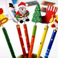 Wholesale New Cute Christmas Gifts Standard Pencils mix SET Wood HB Black Lead Color Student s Stationery High Qulity Office School Pencil